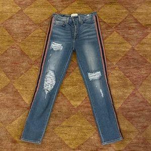 McGuire crop Jean w/ tuxedo stripe sz 27